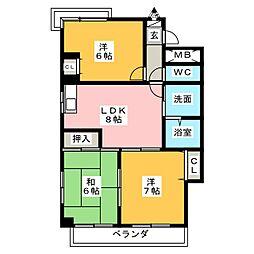 パールハウス愛[2階]の間取り