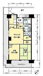 フロール山田町第2[509号室]の間取り