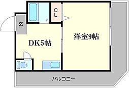 ベルエーキップ[6階]の間取り