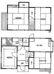 [一戸建] 東京都国分寺市戸倉1丁目 の賃貸【/】の間取り