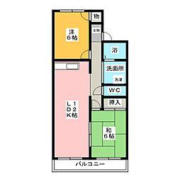 ハイツふじ[3階]の間取り