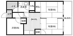 江崎第一コーポ[2階]の間取り