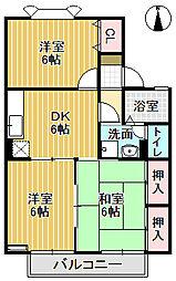 メゾン栄町Ⅱ[102号室]の間取り