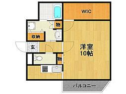 ラフィーネ伊丹2[2階]の間取り