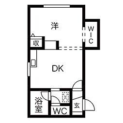 スクエア705[2階]の間取り