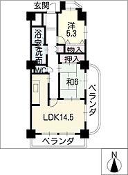 ガーデンセラム[8階]の間取り