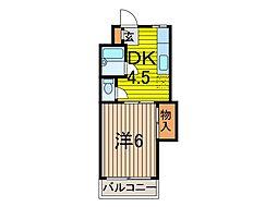 キザワコーポ[2階]の間取り