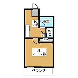 K'Sクラブハウス[3階]の間取り