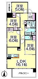 ライオンズ竹ノ塚ブロッサムシティ[6階]の間取り