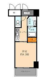 Osaka Metro谷町線 天神橋筋六丁目駅 徒歩8分の賃貸マンション 3階1Kの間取り