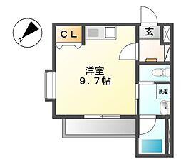 COZY APARTMENT YADA[3階]の間取り
