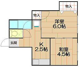 淡野マンション[2階]の間取り