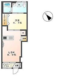埼玉県本庄市見福の賃貸アパートの間取り