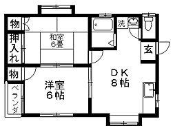メゾン秋桜[2階]の間取り