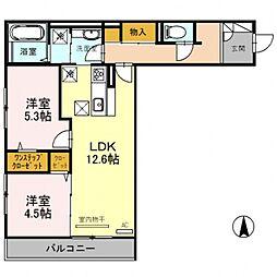 (仮称)D-room勝山北2丁目[1階]の間取り