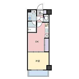 仙台市営南北線 旭ヶ丘駅 徒歩21分の賃貸マンション 1階1DKの間取り