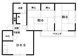 葵ハイツ2[1階]の間取り
