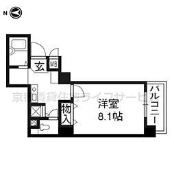 サムティ京都祇園201号室[2階]の間取り