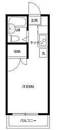 第1藤美荘[2階]の間取り