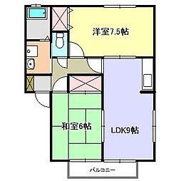 エスポワール宮島[2階]の間取り