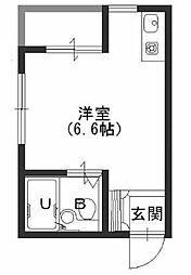 JPアパートメント港[3階]の間取り