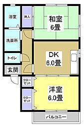 TWIN PALACE EAST[2階]の間取り