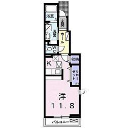 岡山電気軌道清輝橋線 東中央町駅 徒歩6分の賃貸アパート 1階1Kの間取り