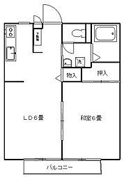 パナ藤ハイツI[103号室]の間取り