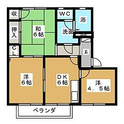 シャトル新田  A棟[2階]の間取り