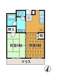 神奈川県相模原市南区東林間1丁目の賃貸マンションの間取り