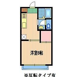 埼玉県さいたま市岩槻区西町5丁目の賃貸アパートの間取り