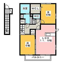 (仮)D-roomウィット今泉[2階]の間取り