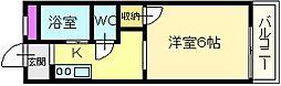 大阪府堺市東区引野町3丁の賃貸アパートの間取り