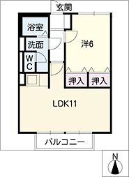 スミカA棟[2階]の間取り