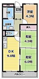 末広ビル[3階]の間取り