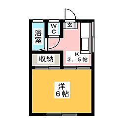 コーポYOSHIDA[2階]の間取り