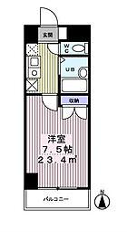 東京都八王子市元横山町2の賃貸マンションの間取り