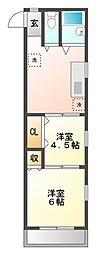 東京都武蔵野市関前3丁目の賃貸マンションの間取り