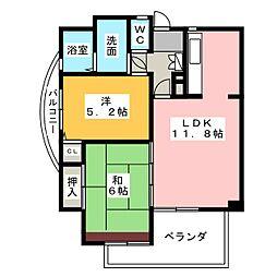 シティマンション赤池[3階]の間取り
