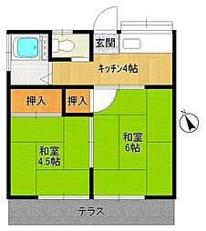 第二太田荘[106号室]の間取り