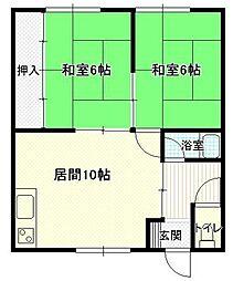 杉沢荘[201号室]の間取り