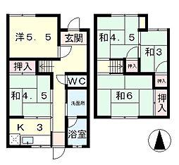 [一戸建] 滋賀県大津市松原町 の賃貸【/】の間取り