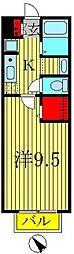 セジュール・ハッセブ[2階]の間取り