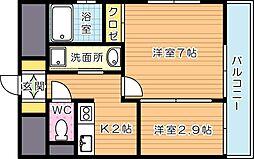アベニュー黒崎[5階]の間取り
