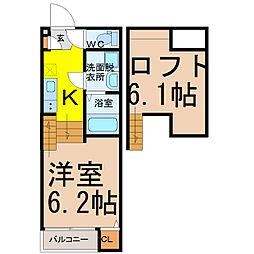 愛知県名古屋市守山区鳥羽見2丁目の賃貸アパートの間取り