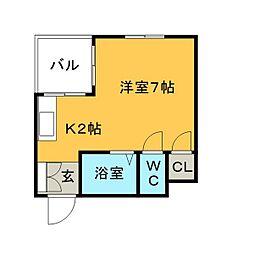 ハウスビューティフルモア[5階]の間取り