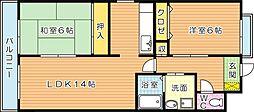 三洋ビル[6階]の間取り