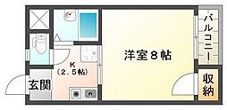 マンション一里塚[2階]の間取り