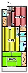 メゾン・デ・クーレ[3階]の間取り