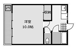 高雄コーポラス[2階]の間取り